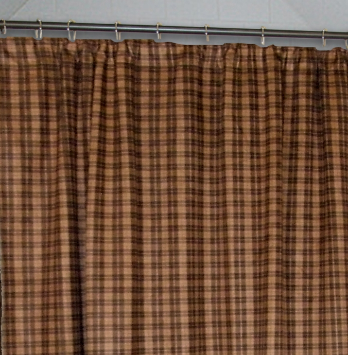 Country cabin curtains